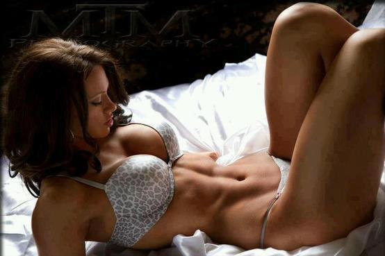Hot Fitness Girl On Bed Hot Fitness Girl On Bed